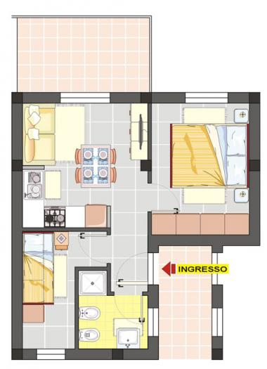 apartment three-room flat