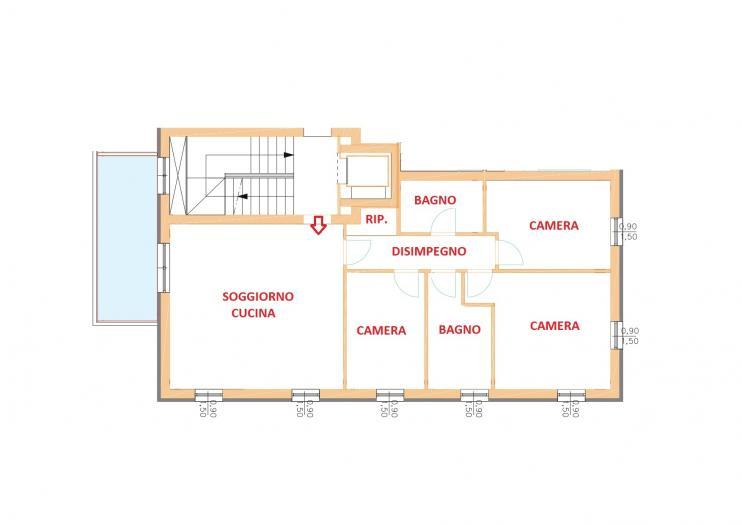 Vendita Senigallia  - Mq. 103 Bagni.2 Locali.4 - euro € 390000